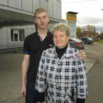 Данил Тиунов с мамой Ириной Игоревной. ФОТО АВТОРА. «ВТ».